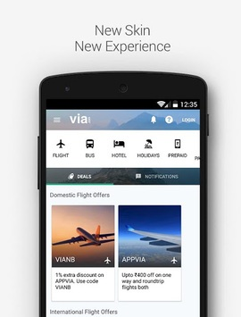 VIA - Flight Hotel Holiday Bus APK screenshot 1