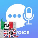 Italian - English voice translator icon