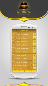 MP3 Quran APK screenshot 1