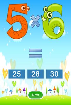Multiplication games APK screenshot 1