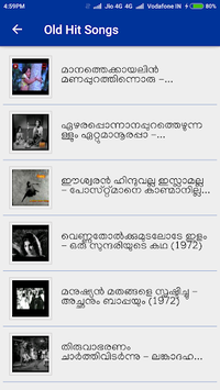 Malayalam Old Video Songs APK screenshot 1