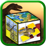Kids dinosaur puzzle games icon
