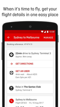 Qantas Airways APK screenshot 1