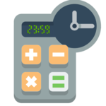 Calculator hours and minutes icon