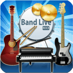 Band Live Rock (drum, bass, guitar, piano, mic) APK icon