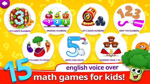Funny Food 123! Kids Number Games for Toddlers APK screenshot 1