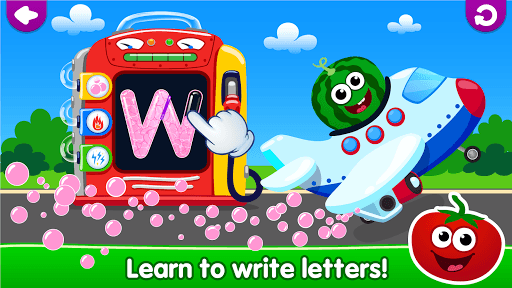 Funny Food! learn ABC games for toddlers&babies APK screenshot 1
