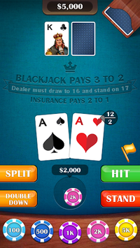 Blackjack 21 - casino card game APK screenshot 1
