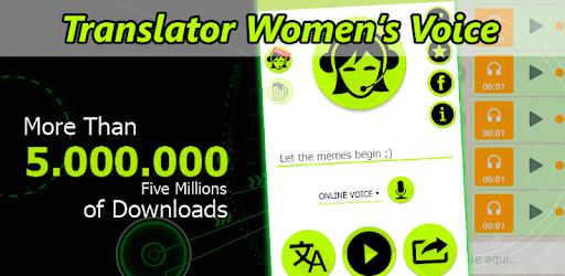 Translator Women's Voice pc screenshot