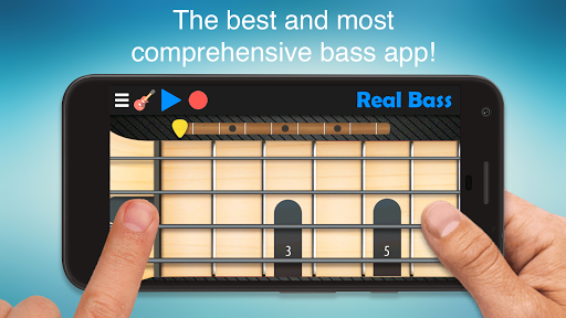 Real Bass - Playing bass made easy APK screenshot 1