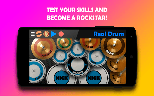 Real Drum - The Best Drum Pads Simulator APK screenshot 1