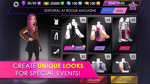 Fashion Fever - Dress Up, Styling and Supermodels APK screenshot 1