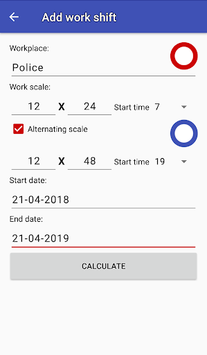Easy work scheduling APK screenshot 1