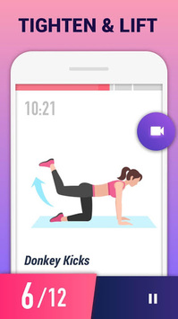 Buttocks Workout - Hips, Legs & Butt Workout APK screenshot 1