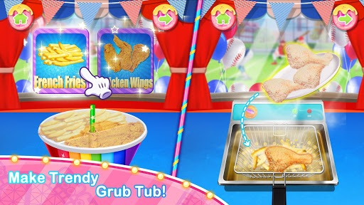Unicorn Chef Carnival Fair Food: Games for Girls APK screenshot 1