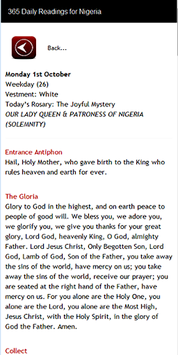 CATHOLIC MISSAL FOR NIGERIA APK screenshot 1