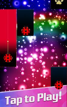 Piano Ladybug Noir Tiles APK screenshot 1