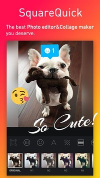 Square Quick Pro - Photo Editor, No Crop, Collage APK screenshot 1