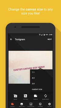 Textgram - write on photos APK screenshot 1