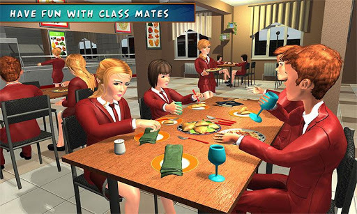 High School Girl Simulator: Virtual Life Game 3D APK screenshot 1