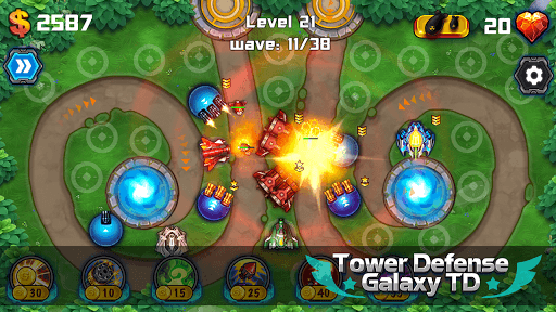 Tower Defense: Galaxy TD APK screenshot 1
