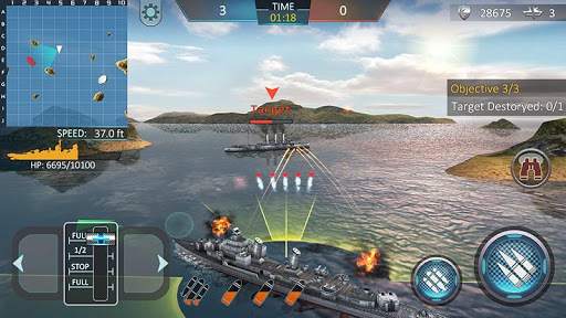 Warship Attack 3D APK screenshot 1