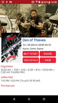 Bahrain Cinema Schedule APK screenshot 1