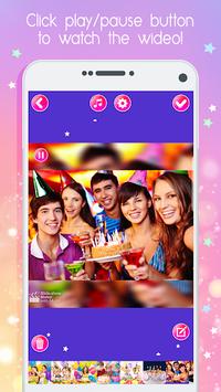 Birthday Slideshow And Video Maker With Music APK screenshot 1
