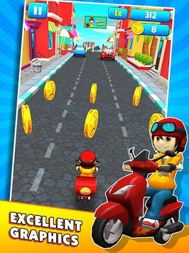 Subway Scooters Free -Run Race APK screenshot 1