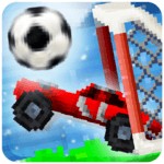 Pixel Cars. Soccer icon