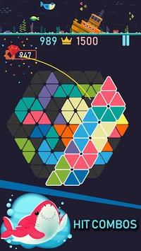 Trigon : Triangle Block Puzzle Game APK screenshot 1