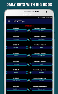 HT/FT Fixed Matches 101% - DAILY BETS APK screenshot 1