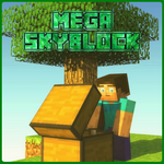 MAP Mega Skyblock for MCPE FOR PC