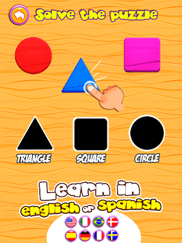 Preschool learning games for kids: shapes & colors APK screenshot 1