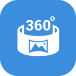 360 video player view Panorama 360 degree icon