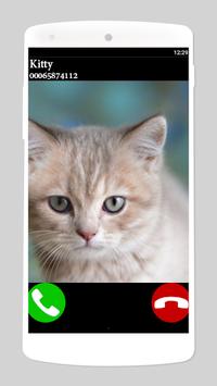 fake call cat 2 game APK screenshot 1