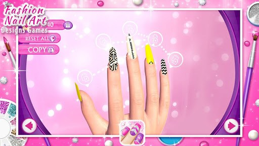 Fashion Nail Art Designs Game APK screenshot 1
