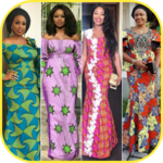 African styles - African dress design icon