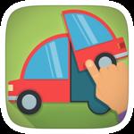 Toddler Kids Car Puzzles Free icon