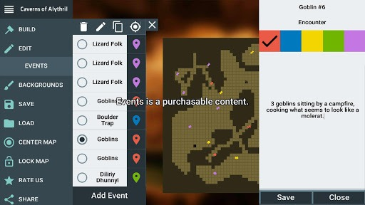 ProDnD Tabletop Game Manager and Dungeon Generator APK screenshot 1