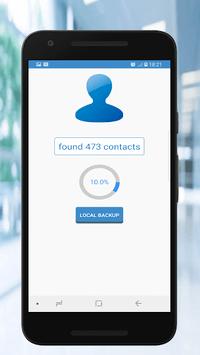contacts Backup and restore APK screenshot 1
