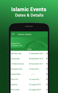 Hijri Islamic Calendar 2018 APK screenshot 1