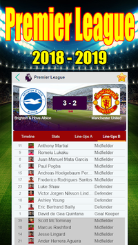 Premier League 2018 - 2019 - All in one APK screenshot 1