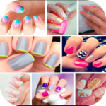 Simple nail art step by step icon