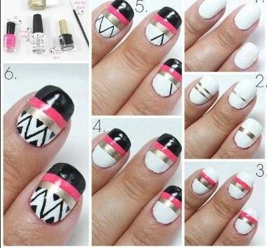 Simple nail art step by step APK screenshot 1