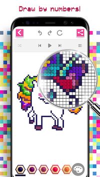 Unicorn Coloring Game - Color by Number Pixel Art APK ...