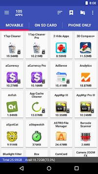 AppMgr III (App 2 SD, Hide and Freeze apps) APK screenshot 1