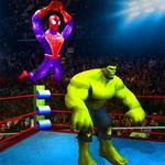 Superhero Wrestling Battle Arena Ring Fighting APK icon