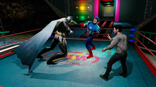 Superhero Wrestling Battle Arena Ring Fighting APK screenshot 1