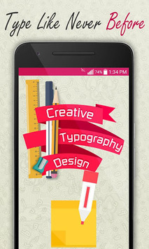 Creative Typography Design APK screenshot 1
